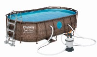 Bazén Power Steel Rattan Swim Vista 4,88 x 3,05 x 1,07 m -